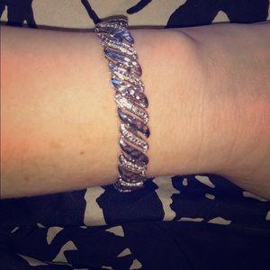 New silver and diamond bracelet